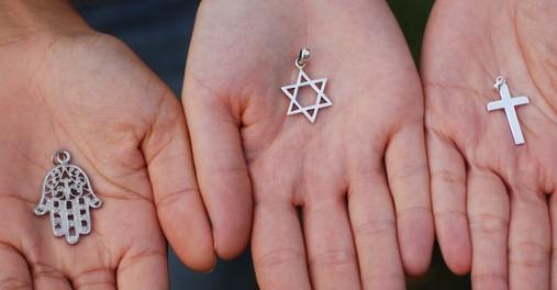 11 Nov 2006, Paris, France --- Symbols of the Three Monotheistic Religions --- Image by © Sébastien Désarmaux/Godong/Corbis